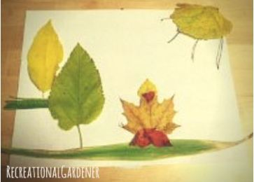 Mommy Daughter Weekend Project | Leaf Art