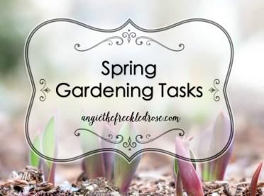 Spring Gardening Tasks 3.28.16